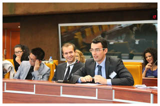 Participants of the Master during a meeting in an EU institution